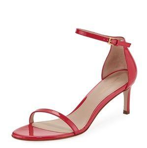 Stuart Weitzman 45Nudist Gloss Naked City Sandals